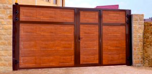 алютех - распашные ворота