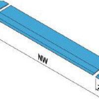 S=125 мм. Сегментированная аппарель состоит из основной секции и двух сегментов по бокам. При наезде на препятствие сегменты складываются, что позволяет обслуживать узкие транспортные средства.